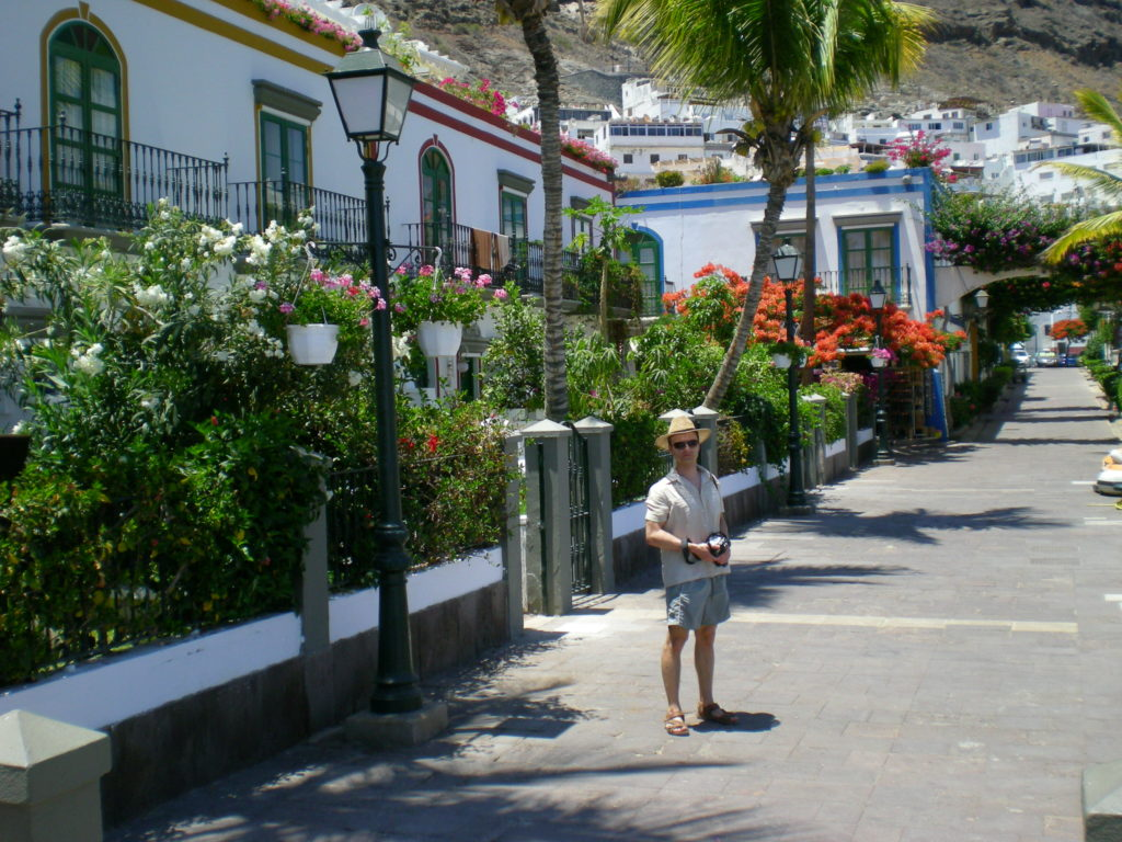 Tomasz Chrusciel in Puerto de Mogan, so called Little Venice of Gran Canaria